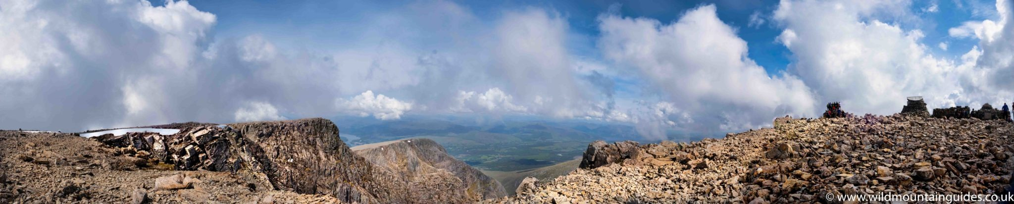 Looking across the top of Tower Ridge from the summit of Ben Nevis