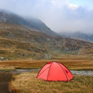 Wild camping in the Scottish Highlands
