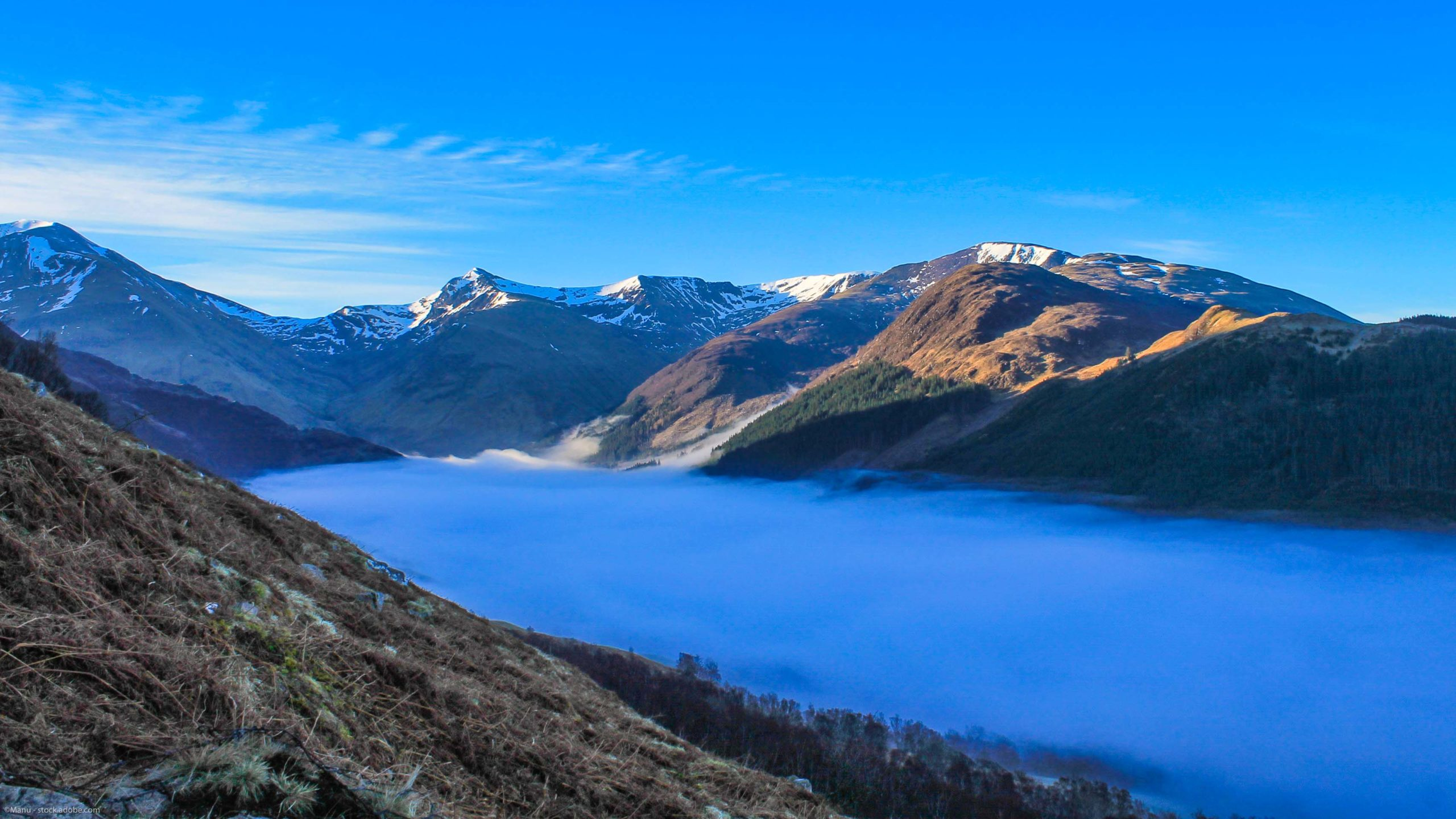Autumn Glen Nevis with cloud inversion, Ben Nevis Guide