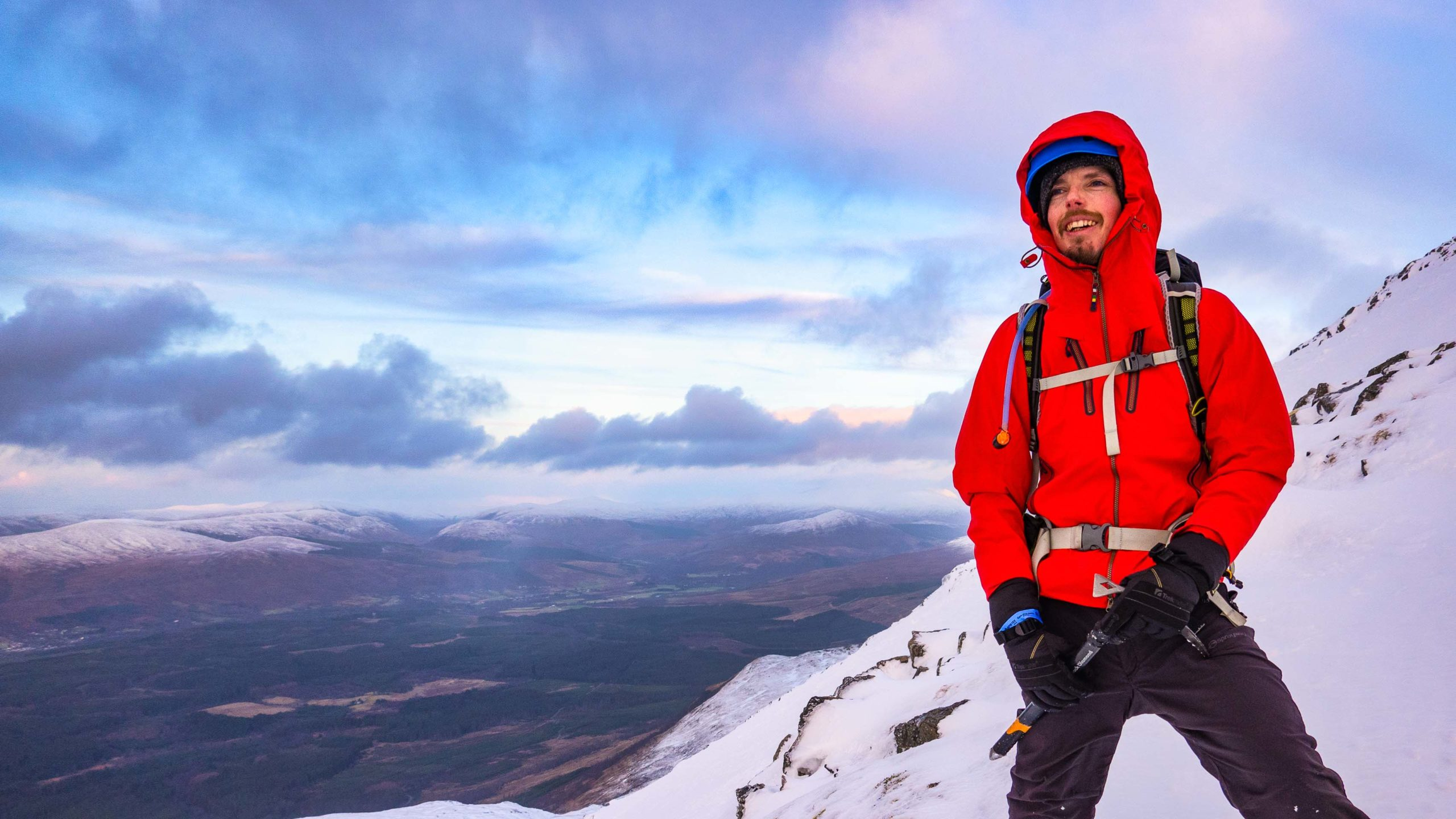 Winter Skills in the Scottish Highlands.Shot by one of our Ben Nevis Guides