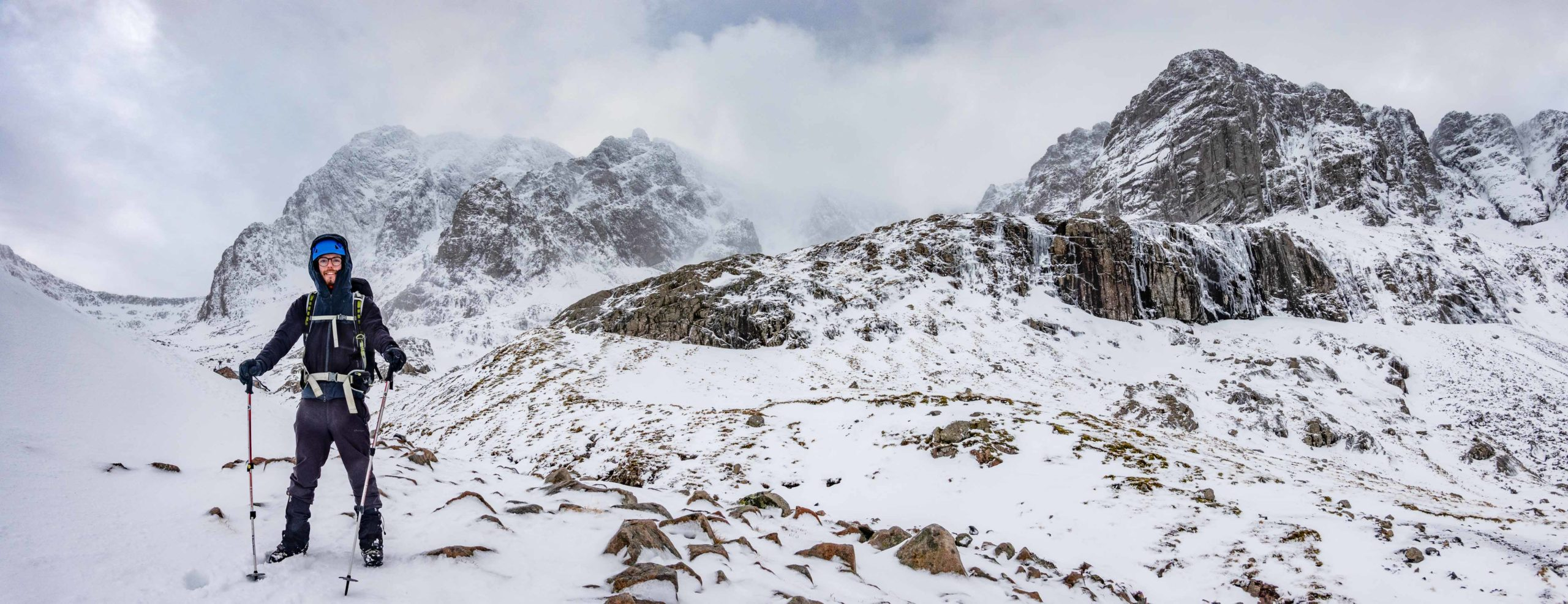 Winter Skills on Ben Nevis.Shot by one of our Ben Nevis Guides