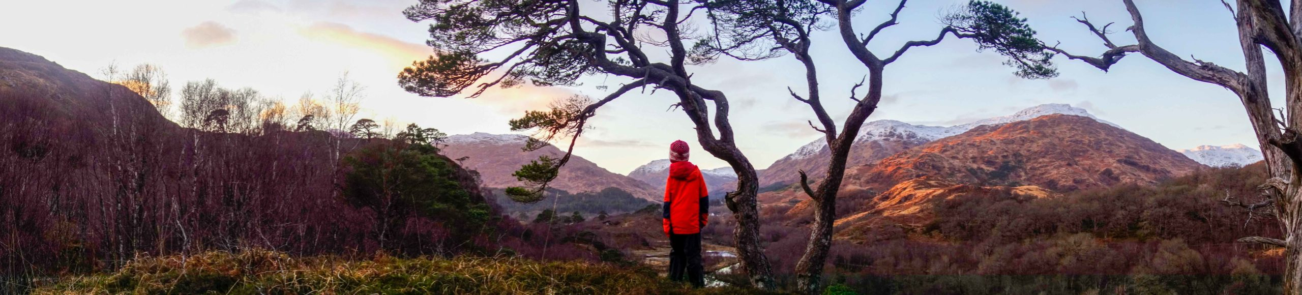 Autumn sunset at Glenfinnan on a family guided walk