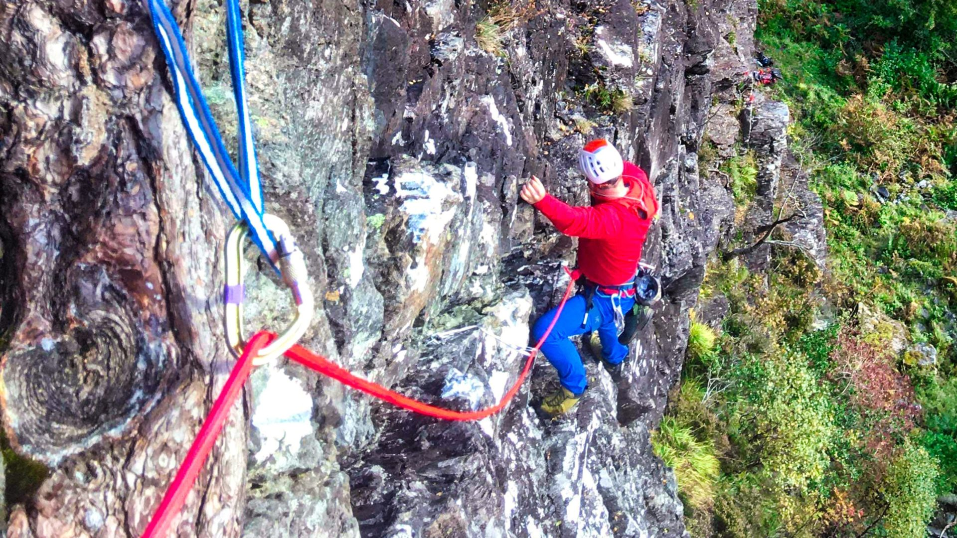 Guided rock climbing Glencoe