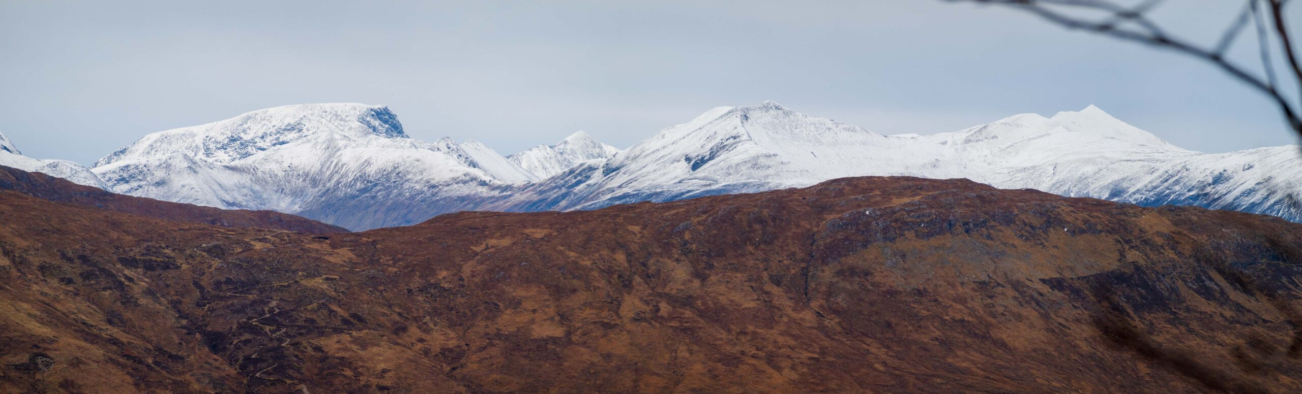 Ben Nevis from Glencoe with the Devils Staircase in the midground