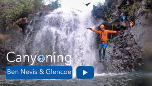 Canyoning near Ben Nevis and Glencoe